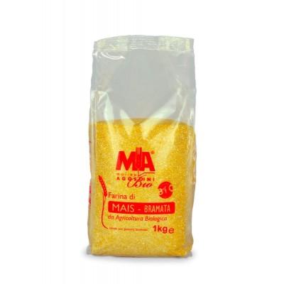 Farina di mais per polenta bramata Bio - 1 Kg